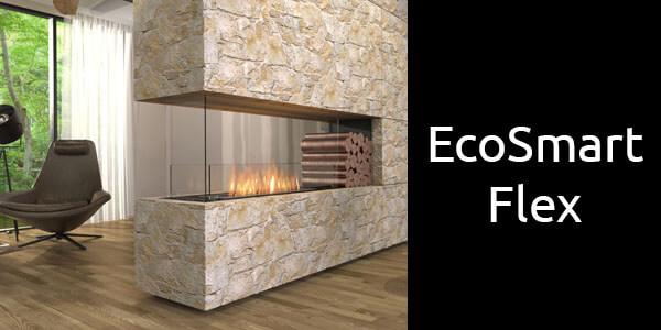 EcoSmart Flex 3 sided bioethanol fireplace