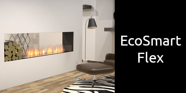 EcoSmart Flex double sided bioethanol fireplace