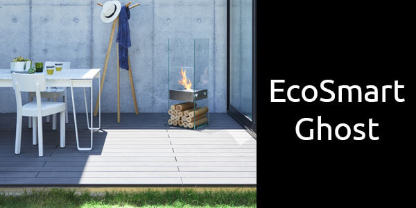 EcoSmart Ghost freestanding bioethanol fireplace