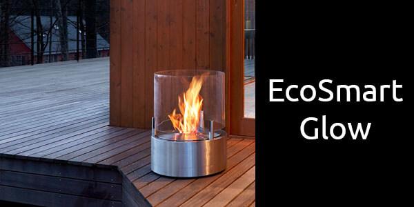 EcoSmart Glow portable bioethanol fireplace
