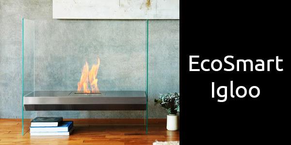 EcoSmart Igloo freestanding bioethanol fireplace