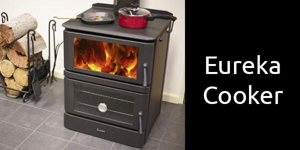 Eureka Cooker freestanding wood heater and oven