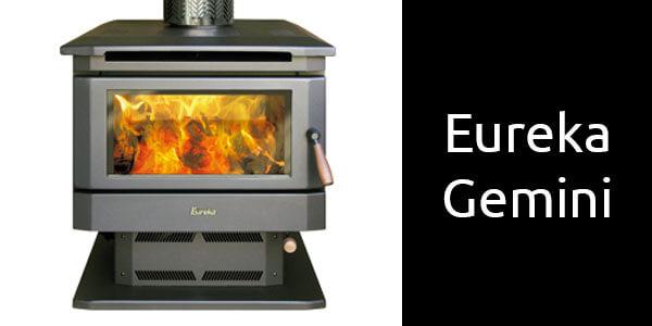 Eureka Gemini double sided wood heater