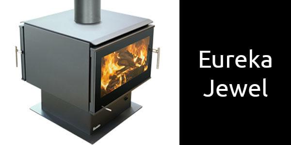 Eureka Jewel double sided freestanding wood heater