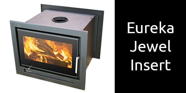 Eureka Jewel inbuilt double sided wood heater