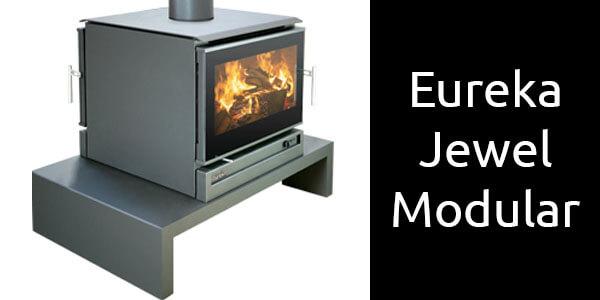 Eureka Jewel modular freestanding double sided wood heater