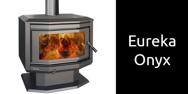 Eureka Onyx freestanding bay window wood fireplace