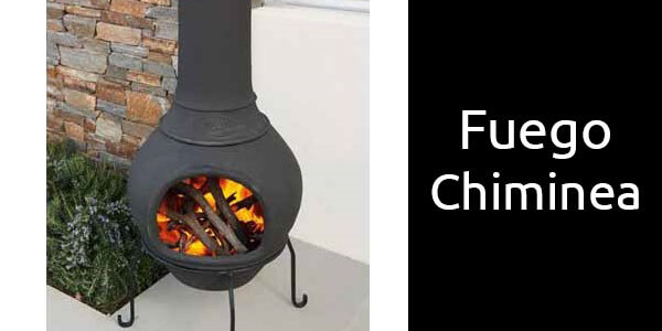 Fuego Chiminea outdoor fireplace