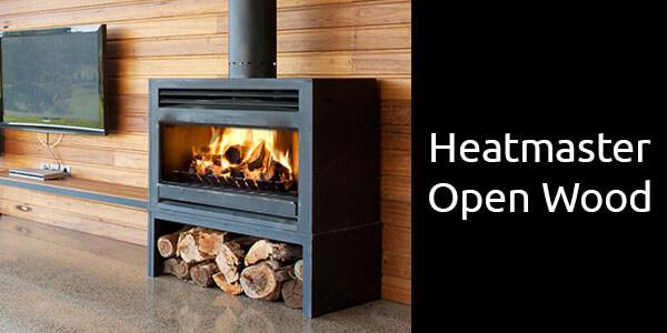 Heatmaster open wood freestanding
