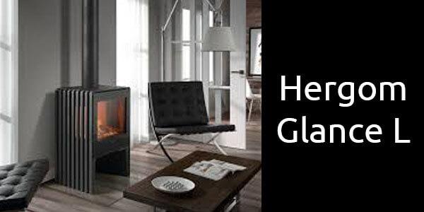 Hergom Glance L Danish designed freestanding wood heater