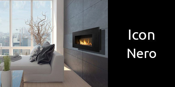 Icon Nero wall mounted bioethanol fireplaces