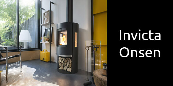Invicta Onsen freestanding three sided wood fire