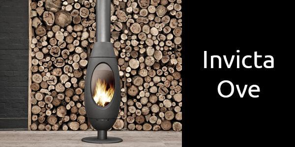 Invicta Ove freestanding oval fireplace