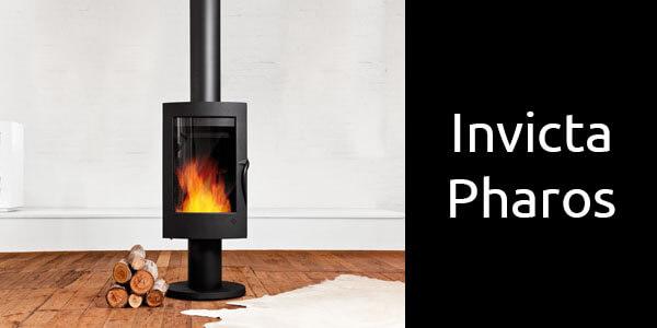 Invicta Pharos European freestanding wood fire