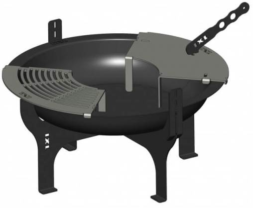 IXL Pit n Grill Deluxe with rotisserie arms and hot plates