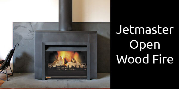Jetmaster freestanding open wood fireplace