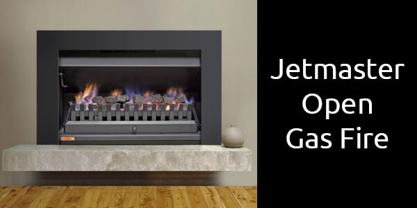 Jetmaster inbuilt insert open fronted gas fireplace