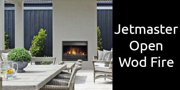 Jetmaster inbuilt open wood fire