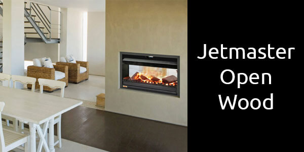 Jetmaster open fronted wood fireplace double sided