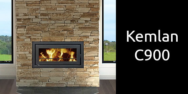Kemlan C900 inbuilt wood heater
