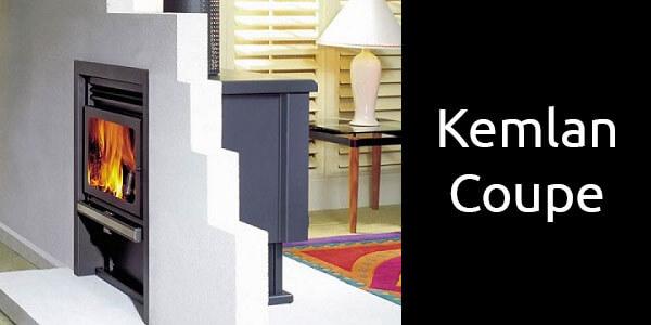Kemlan Coupe wall penetration wood heater