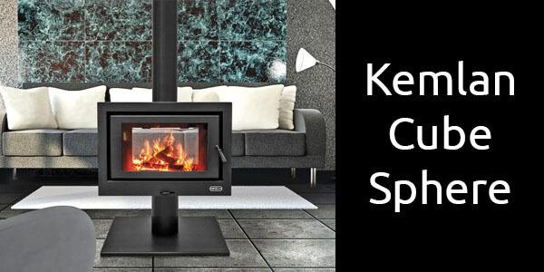 Kemlan Cube Sphere freestanding wood heater