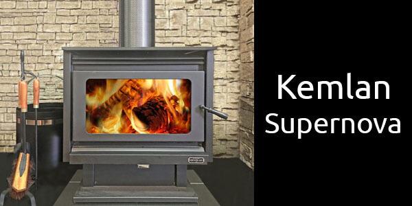 Kemlan Supernova freestanding wood fireplace