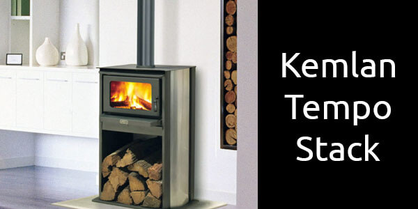 Kemlan Tempo Stack freestanding wood heater with wood storage