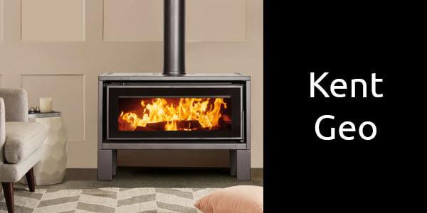 Kent Geo freestanding wood fireplace