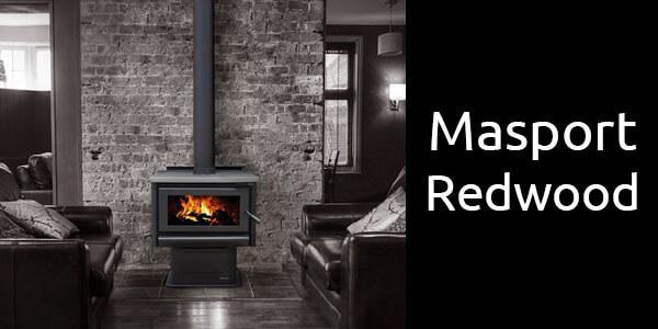 Masport Redwood freestanding wood fireplace