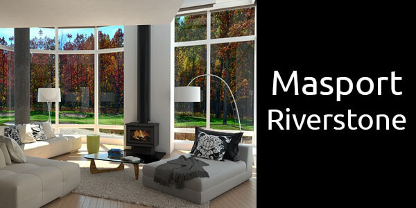 Masport Riverstone freestanding wood fire