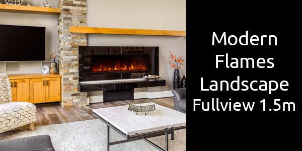 Modern Flames Landscape Fullview 1.5m