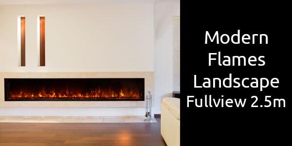 Modern Flames Landscape Fullview 2.5m