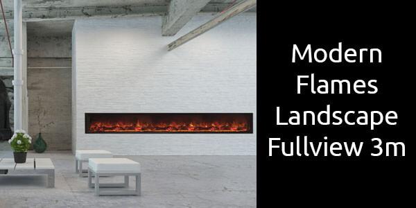 Modern Flames Landscape Fullview 3m
