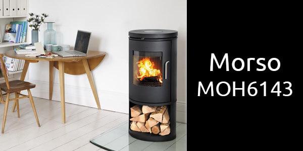 Morso MOH6143 freestanding modern wood fireplace