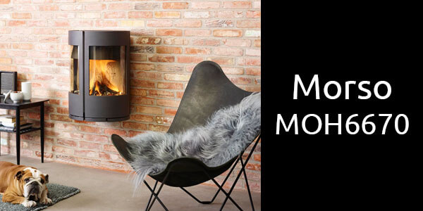 Morso MOH6670 wall suspended wood heater