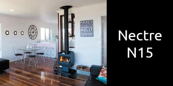 Nectre N15 compact freestanding wood heater