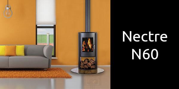 Nectre N60 modern freestanding wood fireplace