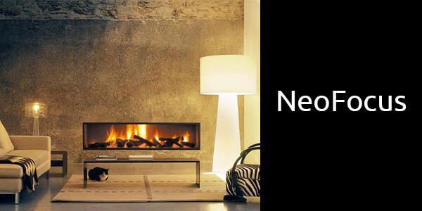 Oblica Neofocus inbuilt wood fireplace