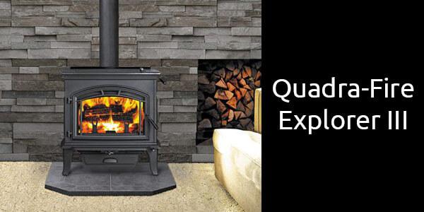 Quadra-Fire Explorer 3 freestanding slow combustion fireplace