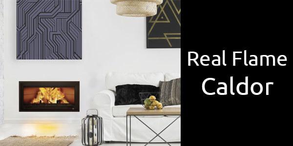 Real Flame Caldor inbuilt wood heater