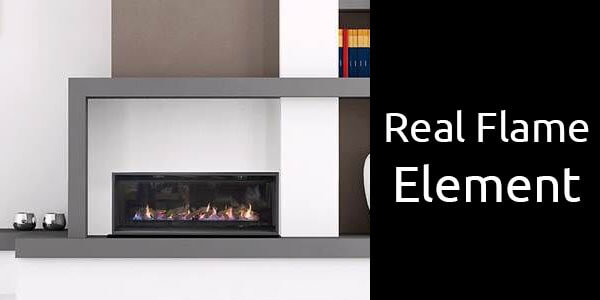 Real Flame Element single sided inbuilt gas fireplace