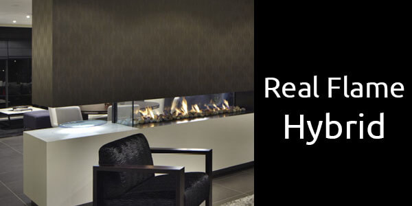 Real Flame Hybrid gas fireplace