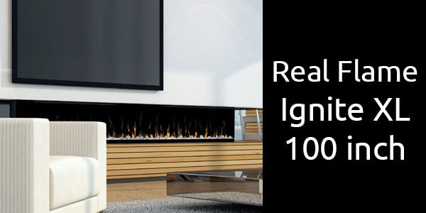 Real Flame Ignite XL 100 inch electric fireplace