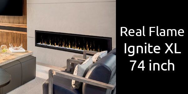 Real Flame Ignite XL 74 inch electric fireplace