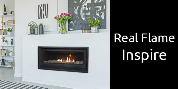 Real Flame Inspire inbuilt gas fireplace