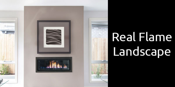Real Flame Landscape inbuilt gas fireplace