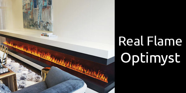 Real Flame Optimyst electric fireplace with steam flame effect