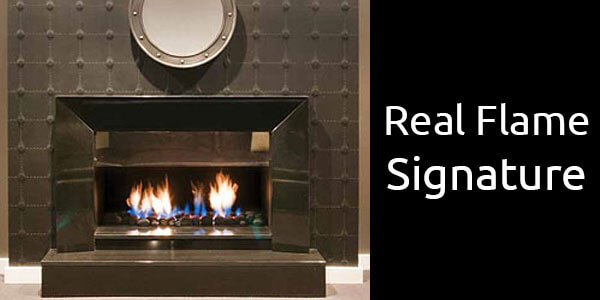 Real Flame Signature inbuilt gas fireplace