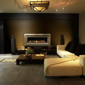 Escea DL1100 Fireplace with Bevelled Fascia